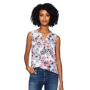 NWOT Adrianna Papell printed sleeveless blouse